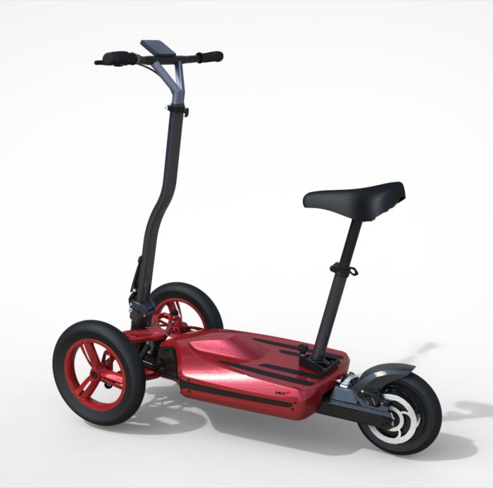 sleek electric scooter that can be converted into an. Black Bedroom Furniture Sets. Home Design Ideas