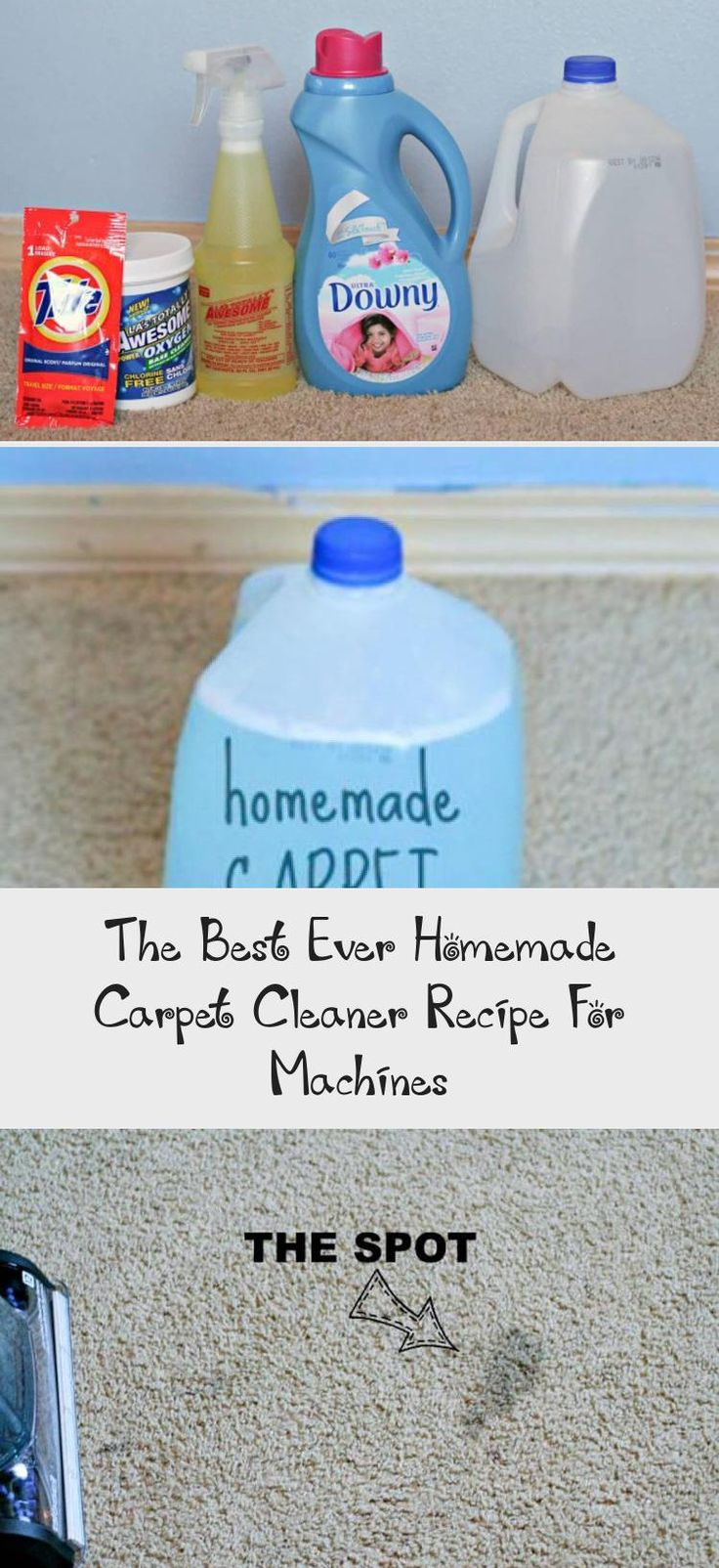 Diy easy homemade carpet cleaning solution for machines