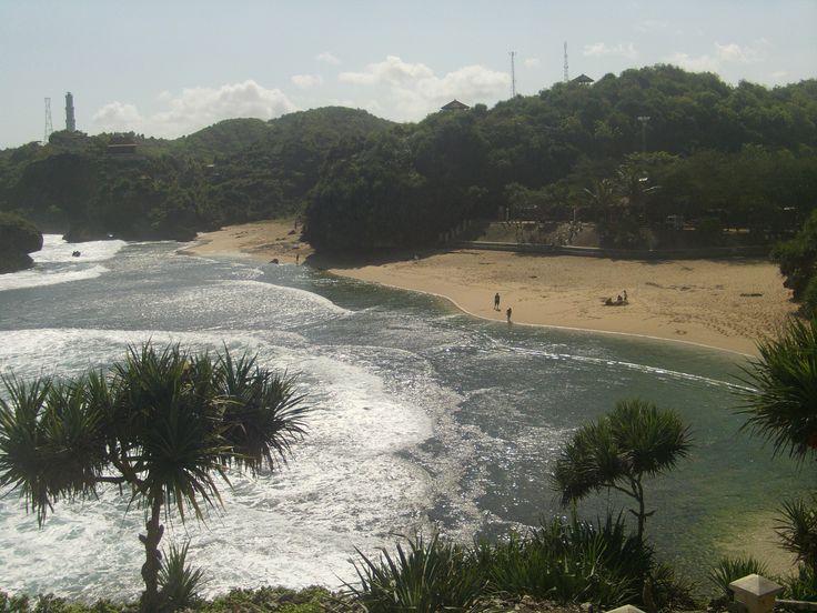 Kukup Beach, Wonosari, Central Java, Indonesia.