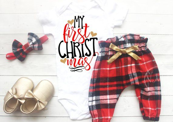 Newborn Girl Christmas Outfit, Newborn Girl, Christmas outfit girl