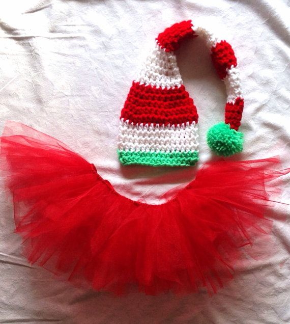 Baby Girl Christmas Outfit. Baby Elf Costume. by ChildishDreams www.etsy.com/shop/childishdreams