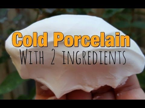 Better than Salt Dough: Cold Porcelain Clay Without Glue Recipe - YouTube