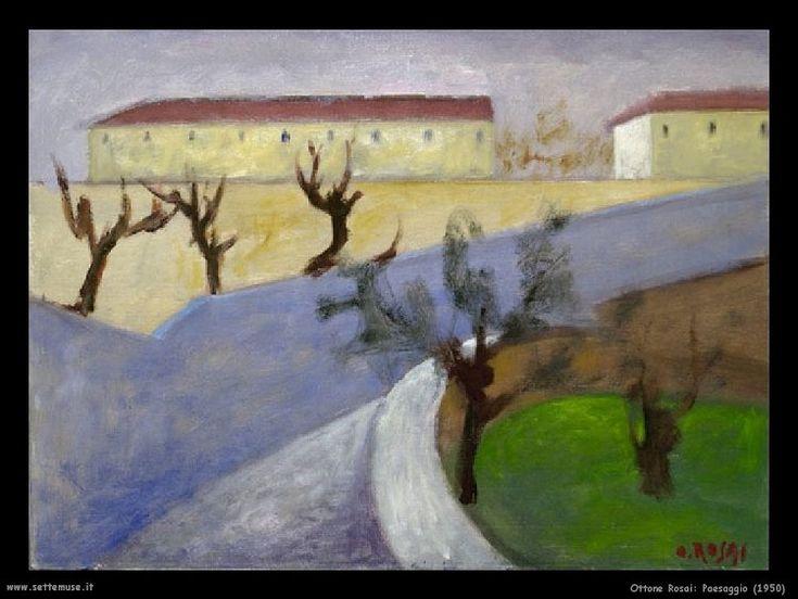Ottone Rosai, Paesaggio, 1950