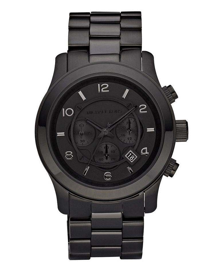 Jewellery & Accessories | Watches | Men's Black Ip Oversized Runway Watch | Hudson's Bay