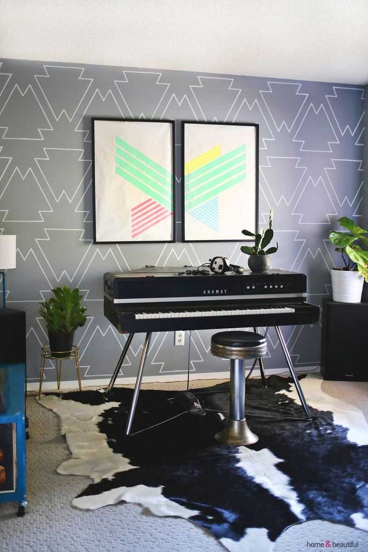 Make A Statement Wall With Paint Pens! - http://www.homeandbeautiful.com/living/make-a-statement-wall-with-paint-pens.html
