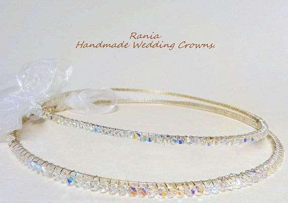 Wedding Crowns.Stefana.Orthodox Crowns.Silver by RaniaCreations