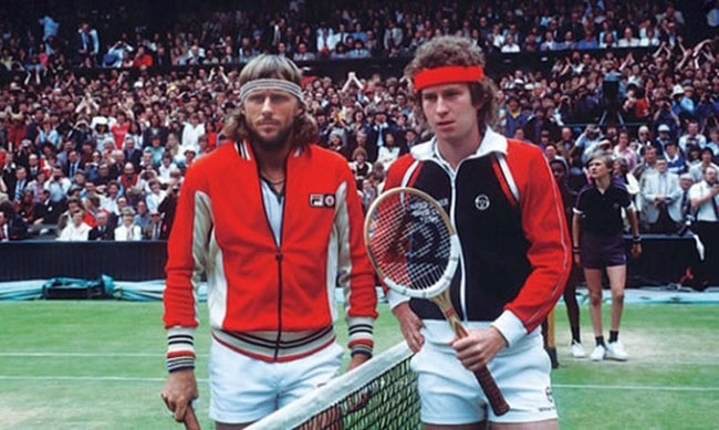 Greatest era of tennis style. Ever. Sergio Tacchini, Ellesse, Cerruti, Fila: you are hereby on notice to bring it back.