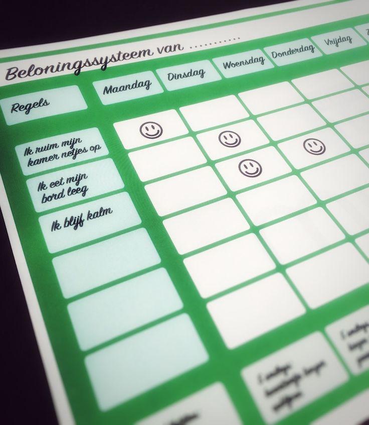 Beloningssysteem - http://www.nummer10mama.nl/blog/beloningssysteem/ Belonen lijkt beter te werken dan straffen. Kinderen lijken gevoeliger te zijn voor beloning en laten zich dus makkelijker gedrag aanleren. Hoe kun je het koppelen aan gewenst gedrag? Welke beloningen werken? Hoe kun je het bijhouden? Hard werken voor zowel ouder als kind.