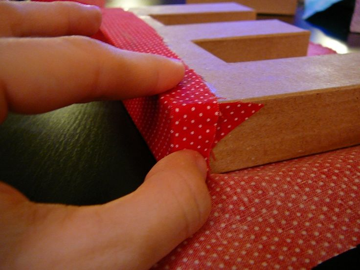 How to: Fabric Covered Letters