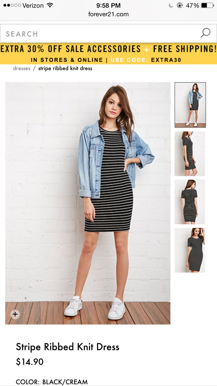 Basically looks like this dress denim jacket converse example - Love This Striped Dress I Would Wear All White Converse Instead Of The Stan