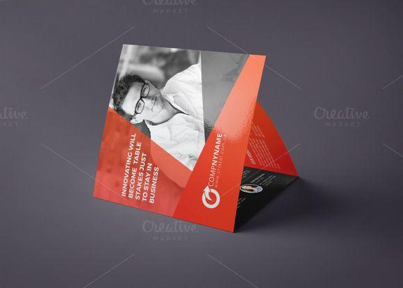 Square Tri Fold Brochure-Multipurpos by Cristal Pioneer on Creative Market