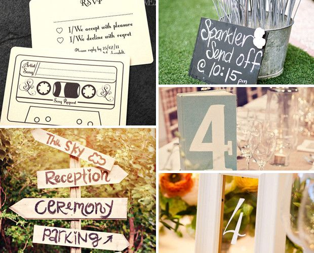 25 Unique and Cute Wedding Pinspirations: only ones I'm liking really are the book and/or picture frame table numbers.