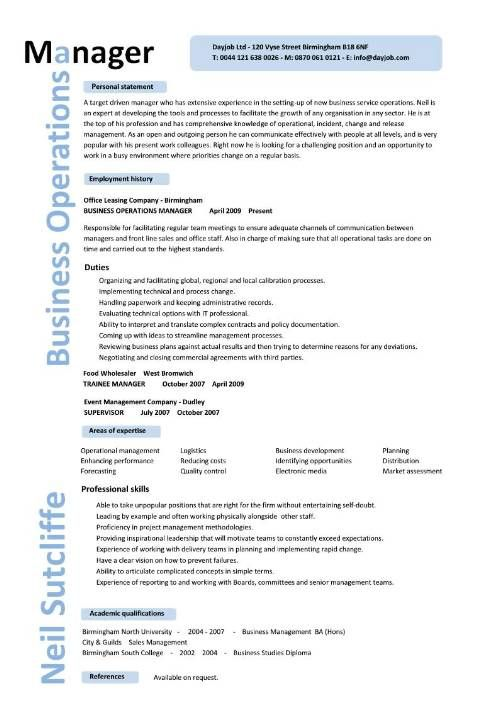 unique business operations manager resume template pin by job resume on job resume samples