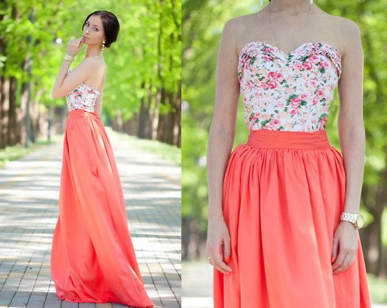 : Outfits, Fashion, Style, Skirts, Clothes, Dresses, Floral Top