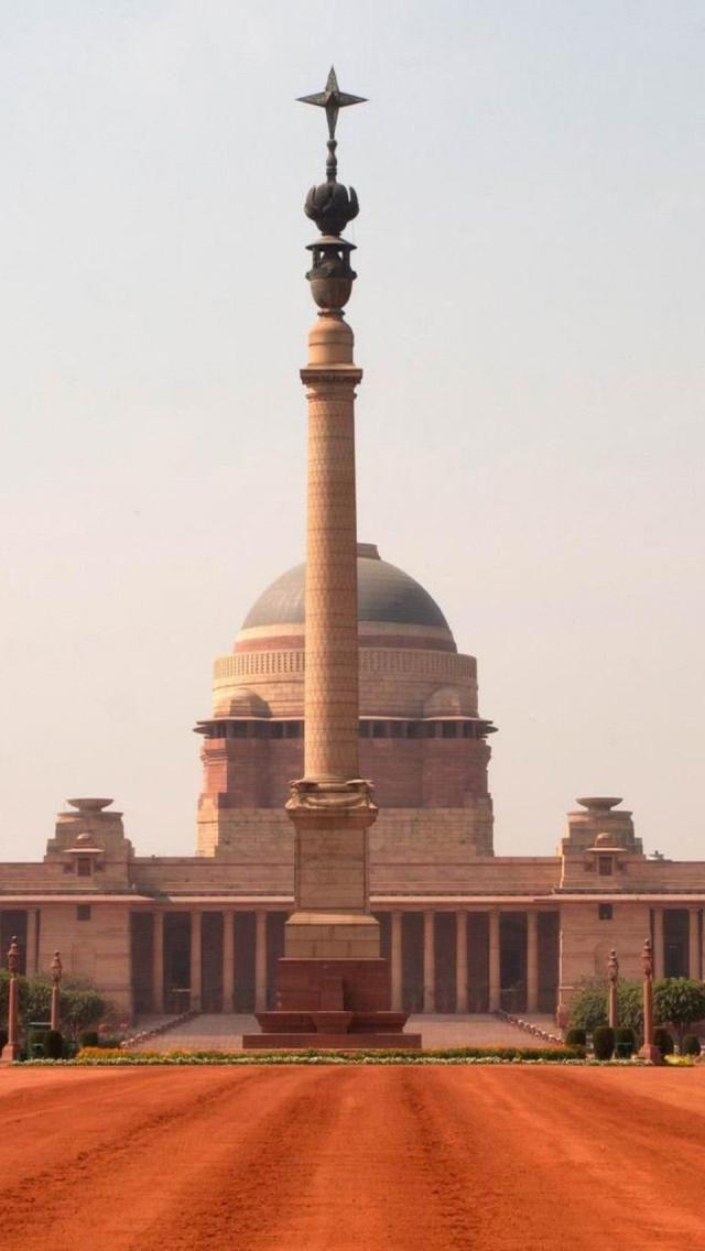 Rashtrapati, Bhavan, New Delhi, India, Asian, Geography, Building,