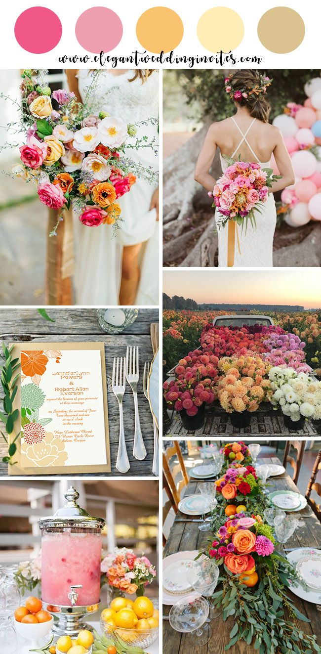 10 Beautiful Spring And Summer Wedding Colors For 2019 Wedding