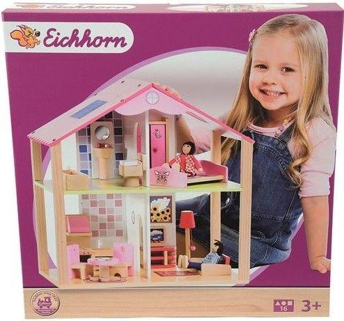 Eichhorn Drevený domček pre bábiky s príslušenstvom - 0