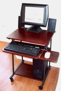 """STS-5806 Compact 24"""" Small Computer Desk for small spaces (SKUSTS5806) Regular Price: $145.00 Super Sale Price: $135.00! + Shipping: $39.00 (flat rate contiguous U.S.) For desktop computers & laptops."""