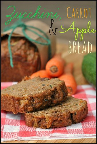 Zucchini, Carrot, and Apple Bread with Pecans and Chocolate Chips