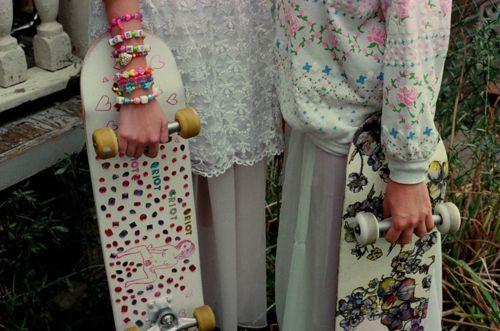 Skate, pink, dress