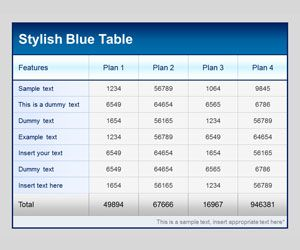 Free Table Templates PowerPoint, Free Microsoft PowerPoint Template With  Various Table Colors And Designs In
