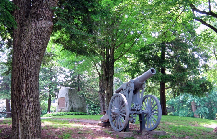 Old cannon at the Veterans Memorial Green