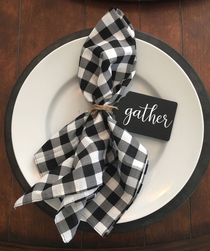 Wooden Gather Tags Farmhouse Napkin Rings Thanksgiving Dinner Table Dining Christmas Centerpiece handwritten font Magnolia Fixer Upper