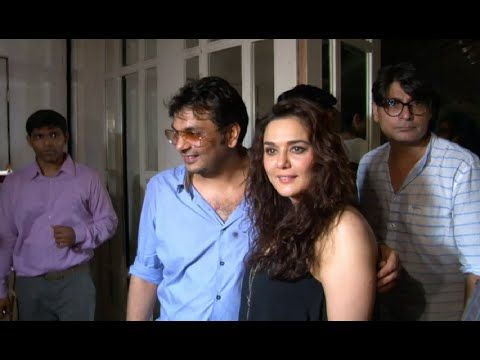 Preity Zinta at Mukesh Chhabra's birthday party.