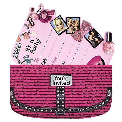 15 mustsee Barbie Invitations Pins – Handbag Party Invitations