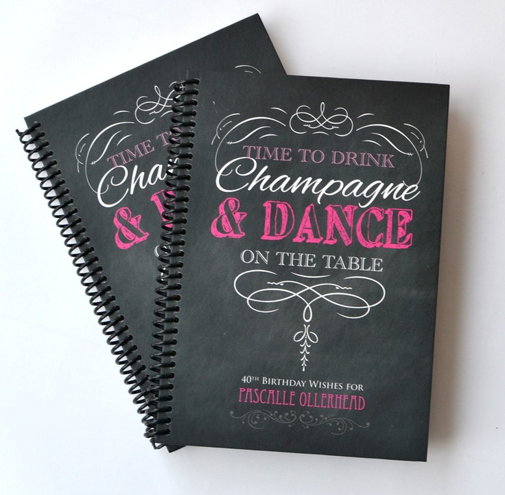 'Time to drink champagne' personalised journals - www.macaroon.co