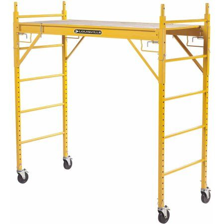 Louisville Ladder 6' x 6' Steel Rolling Scaffold, 1000 lbs Duty Rated, Multicolor