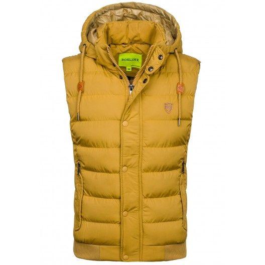 Jesenné vesty pre pánov žltej farby - fashionday.eu