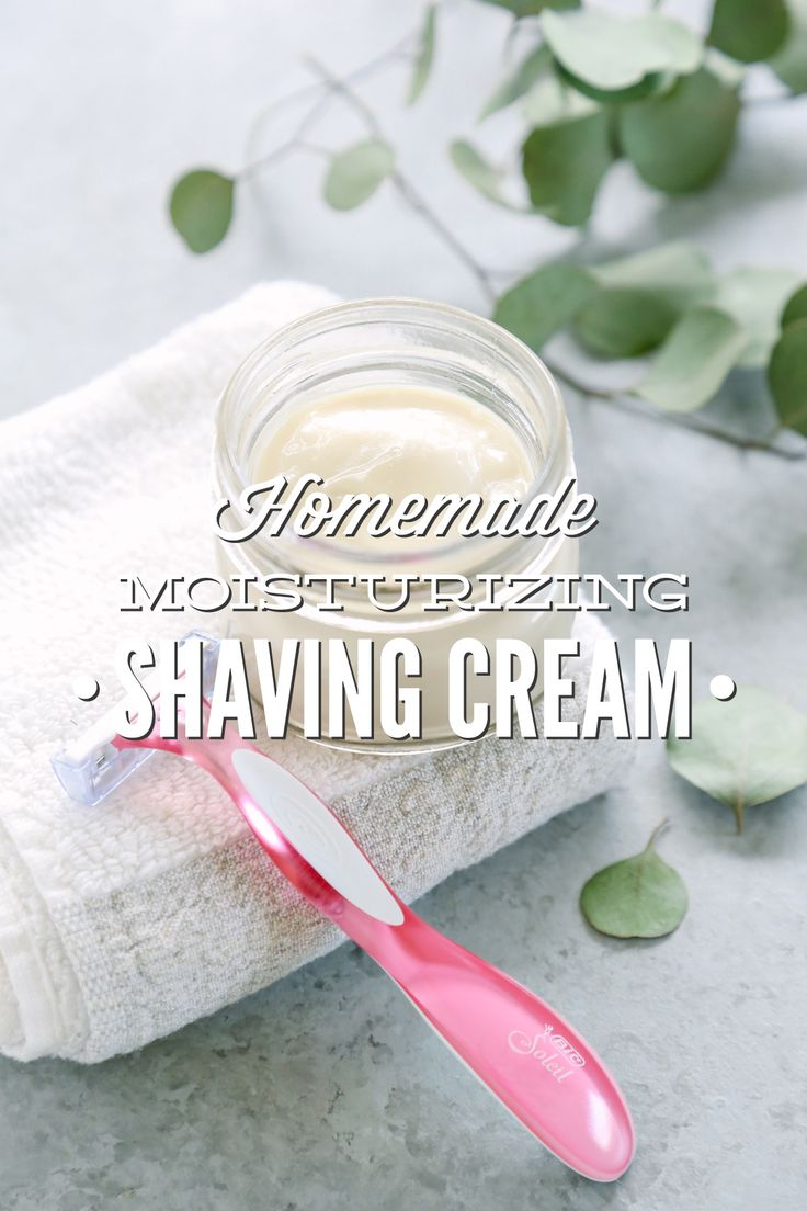 An easy to make homemade shaving cream alternative. This homemade moisturizing shaving cream is made with moisturizing ingredients that aid in the shaving...