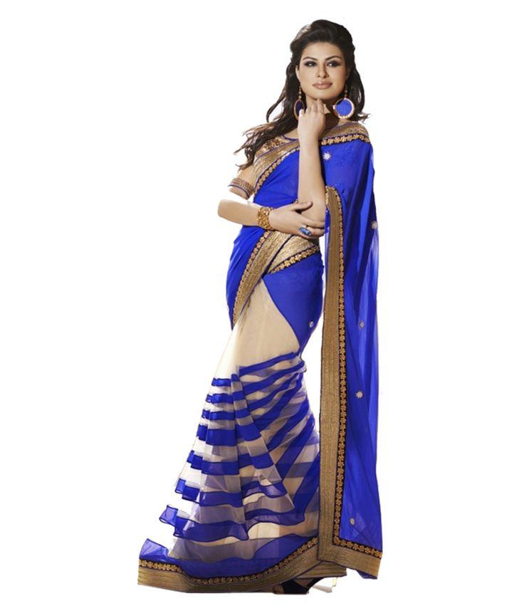 Loved it: jhankar fab Blue Faux Georgette Saree, http://www.snapdeal.com/product/jhankar-fab-blue-faux-georgette/831031126