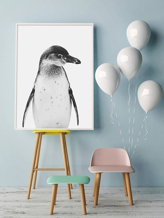 Penguin Print Baby Animals Nursery Animals Nursery
