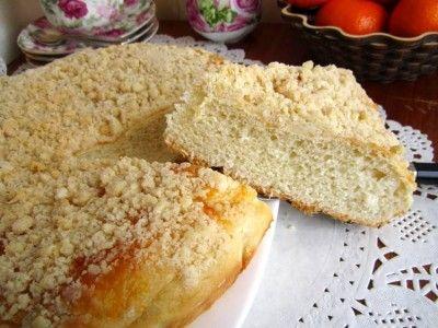 Постный пирог со штрейзелем