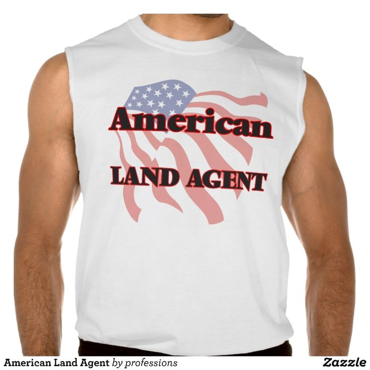 American Land Agent Sleeveless Tees Tank Tops