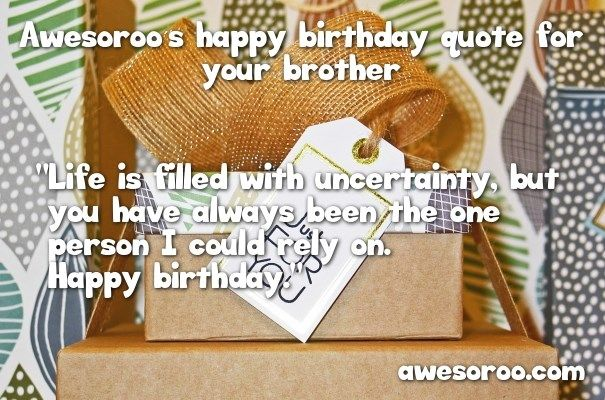 birthday gifts with wish for brother