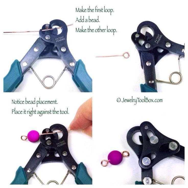 1 Step Looper, Loop Making Pliers, Make Your Own Eye Pins, 1.5mm Loops, Jewelry Making Pliers, Create and Trim Loops in One Easy Step, #1152 – Jewels