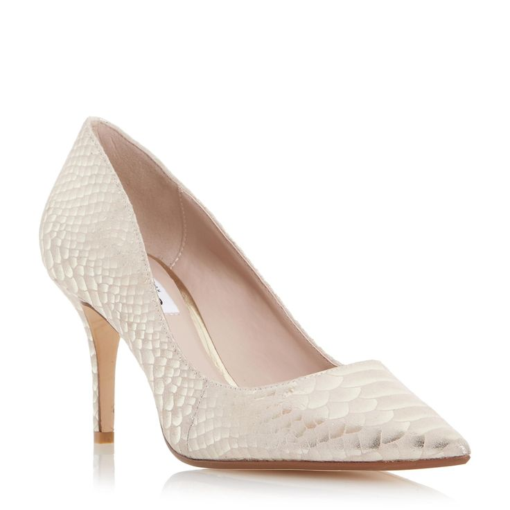 DUNE LADIES ALINA - Pointed Toe Mid Heel Court Shoe - gold | Dune Shoes Online