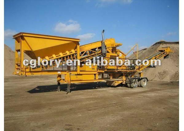 HN Glory Mobile Crusher Plant1.mobile crusher plant 2.Turck loading3.From crushing to screening4.Gravel making line