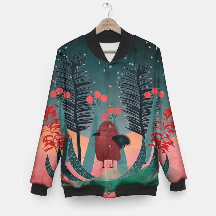 Bird Baseball Jacket by Rosa Picnic 54.95€