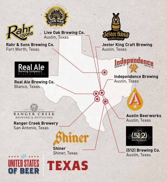 a few Brewery locations for some popular Texas beers.  good roadside stops for the menfolk in your life when you're road tripping to the Junk Gypsy world headquarters!!!
