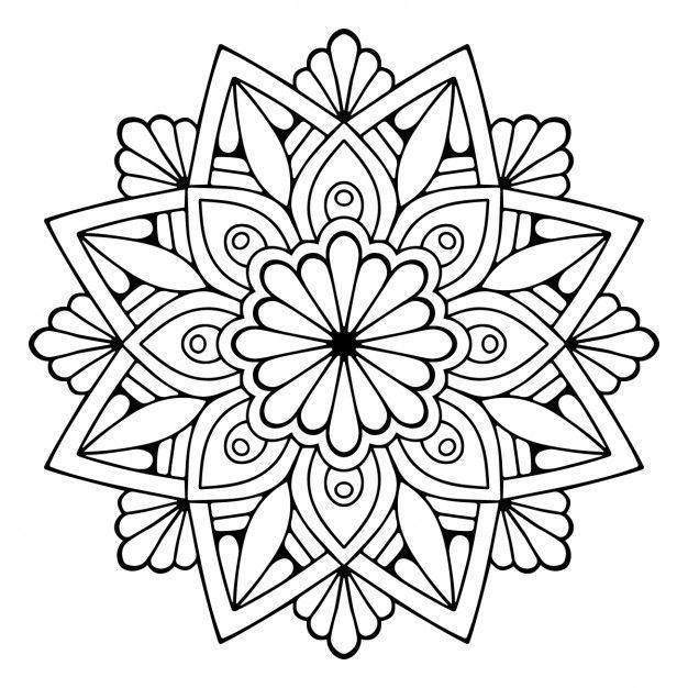Cute floral mandala Free Vector