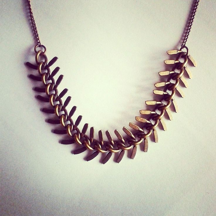 collier chaine epi bronze 80'S : Collier par amparo