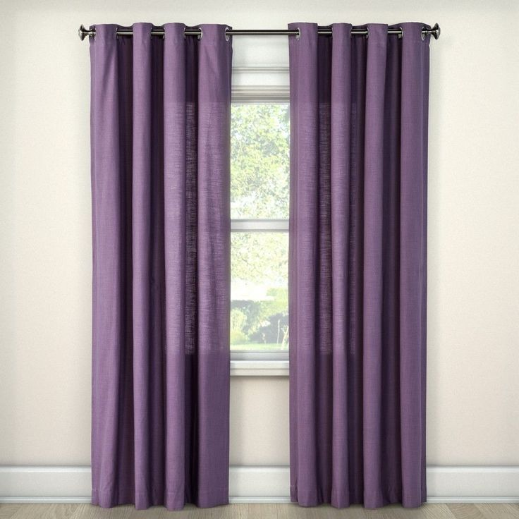 Natural Solid Curtain Panel