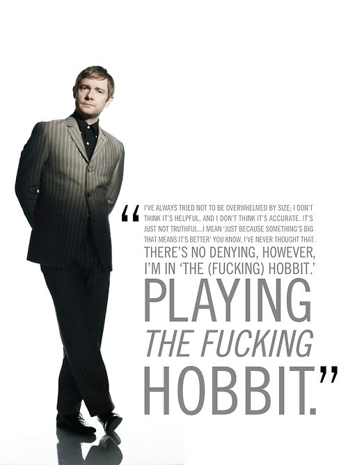 Martin Freeman    Could probably due without the cursing, but... yeah, that sums it up rather nicely, I think.