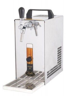 Bier Zapfanlage PYGMY  20/K mit Membranpumpe 1-leitig Trockenkühlgerät aus Edelstahl, 20 Liter/h