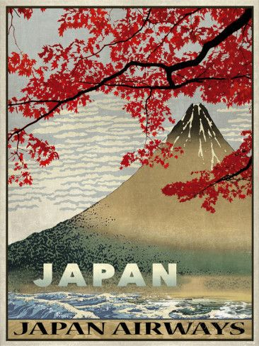 Vintage Travel Japan Giclee Print by The Portmanteau Collection at…