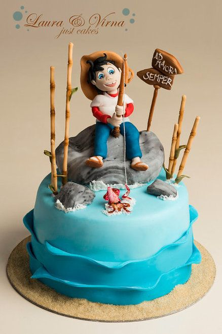 Sampei the fisherman cake Cake by Laura e Virna just cakes